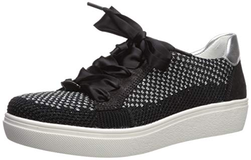 ARA Women's Natalya Shoe, Black Woven, 7.5 W UK (10 US)