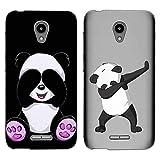 [2-Pack] for Alcatel Verso Case, Clear Anti-Scratch Shock Slim Protective Men Women Girls Soft TPU Bumper Cover Phone Case for Alcatel idealXCITE/CameoX/Raven LTE (A574BL)/U50 (5044R) -Panda