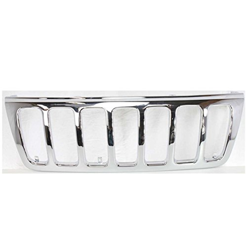 Koolzap For 99-03 Grand Cherokee Front Grill Grille Shell w/o-Insert CH1200221 - Grill Chrome Shell
