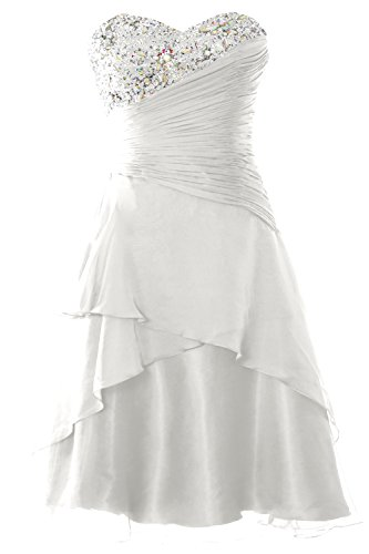 Short Formal Gown Party Dress Prom Strapless Macloth Tiered Ivory Cocktail Women OwqTff