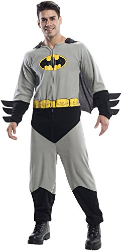 Rubie's Costume Co Men's Batman One-Piece Costume, Black, Standard