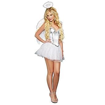 ノーブランド品 エンジェルベイビー セクシー 天使 ドレス 大人 女性 エンジェル コスチューム ハロウィン コスプレ 衣装 レディース