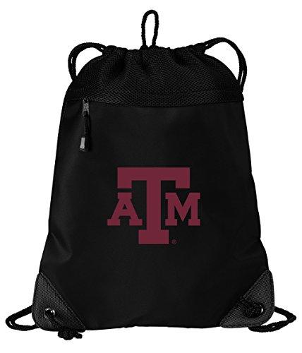 (Texas A&M Aggies Drawstring Bag Texas A&M Cinch Pack Backpack Unique MESH & Microfiber )