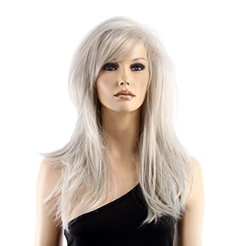 Costume At-st Pilot (Stfantasy Wigs for Women Long Straight Heat Resistant Synthetic Hair 20