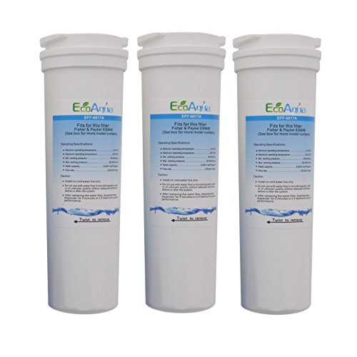 EcoAqua EFF-6017A Fisher & Paykel 836848 Comparable Refrigerator Filter 3 Pack ;from#amburgersales