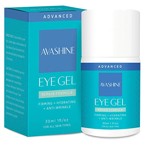 Avashine Natural Eye Gel for Dark Circles, Puffiness, Wrinkles and Eye Bags, Hydrating Eye Serum, Effective Anti-Aging Eye Gel for Under and Around Eyes (The Best Eye Serum For Dark Circles)
