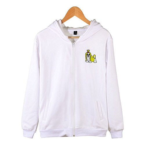 (Sxiuyou Shih tzu Puppy Zip Up Hoodie Long Sleeve Soft Sweatshirt with Side Pocket)