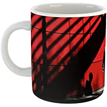Westlake Art - Person Shadow - 15oz Coffee Cup Mug - Modern Picture Photography Artwork Home Office Birthday Gift - 15 Ounce