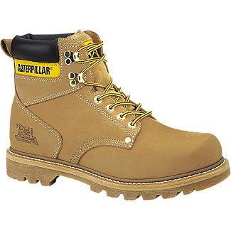 Caterpillar Men's 2nd Shift 6'' Plain Soft Toe Boot,Honey,5 W US by Caterpillar