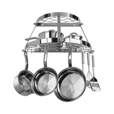 Range Kleen Two Shelf Wall Mount Pot Rack Stainless Steel