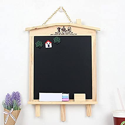Hanging Wooden Blackboard, Kitchen Chalkboard Decorative Chalk Board With  Metal String For Wedding Signs Christmas