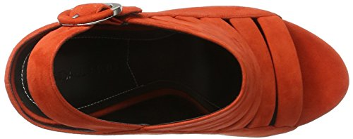Kendall and Kylie Kkmia - Sandalias con Cuña Mujer Orange (Bright Coral 10582 KID SUEDE)