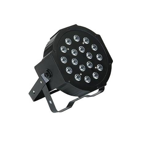 Luz LED RGB Proyector Foco Iluminacion Efecto Disco Fiesta 18W DMX Party: Amazon.es: Iluminación