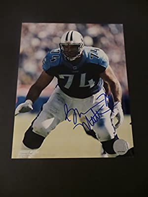 Bruce Matthews Signed Tennessee Titans Autographed 8x10 Photograph