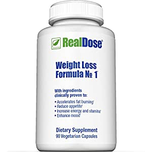 RealDose Nutrition's Weight Management Formula No.1 - Includes Piper Betle Leaf and Dolichos Biflorus (LOWAT), Decaf Green Coffee Bean Extract (SVETOL) & Rhodiola Rosea - 90 Vegetable Capsules