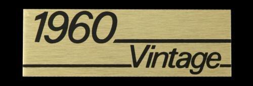 Marshall 1960 Vintage Amplifier Lead Plate