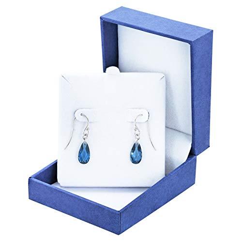 Robert Manse Designs Gem RoManse Rhodium Plated Silver Birthstone Briolette Earrings (lab-Created-Blue-Zircon) - Earrings Zircon
