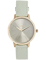 Nixon Womens Kensington Quartz Stainless Steel and Leather Casual Watch, Color:Gold-Toned (Model: A1082814)