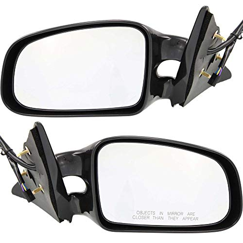Power Mirror compatible with Pontiac Grand Am 99-02 Right and Left Side Gt Model Non-Folding Non-Heated Paintable