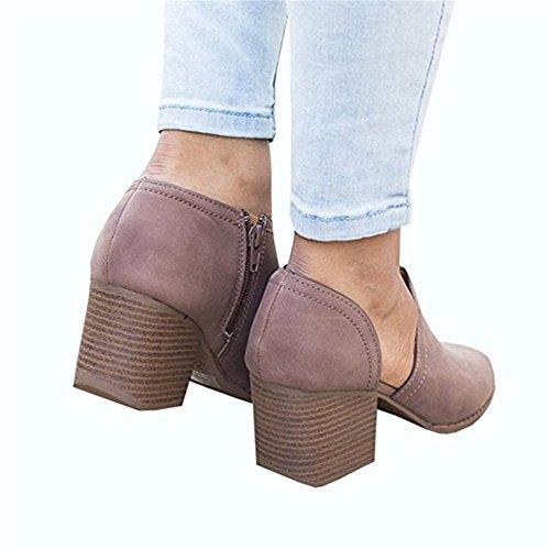 Y Violeta Sintética Sandalias Abierta Con Mine Tacón Tobillo Mujer Zapatos Tom Minetom Casual Tira Al De Verano Cuadrado Gruesas Punta Gamuza RxwA7Cq