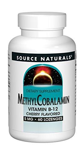 Source Naturals Methylcobalamin Vitamin B-12 5mg Cherry Flavored - 60 Tablets