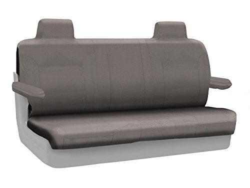 Coverking Custom Fit Rear Solid Bench Seat Cover for Select Lincoln Town Car Models - Polycotton Drill (Medium Gray) ()