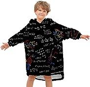 URSSVEN Oversized Wearable Blanket Hoodie Pullover Super Soft Warm Animal Pizza Blanket Sweatshirt with Pocket
