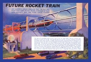 Future Rocket Train Fine art Giclee canvas print (20 x 30)