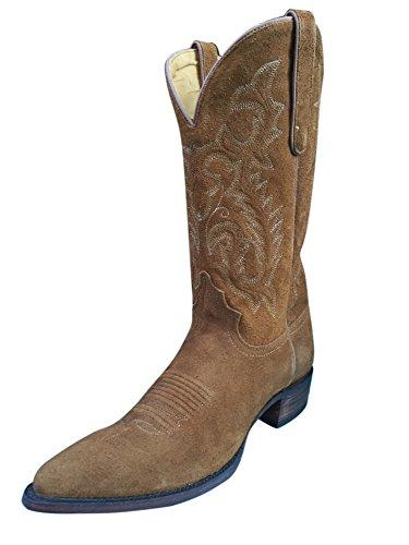 Mens Planeten Cowboy Tan Rusten Roughout Boot