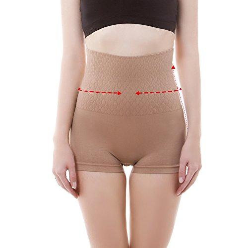 Control Boyshort - LastFor1 Women's Shapewear Boyshort Hi-Waist Brief Firm Control Higher Power Panty (Skin L)