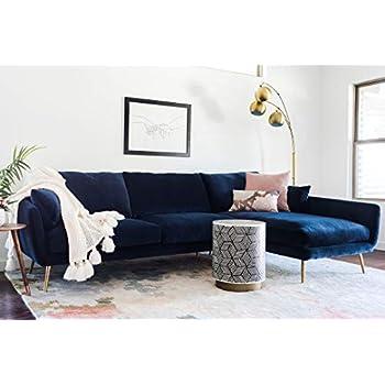 Amazon.com: Meridian Furniture 631Navy-Sectional Moda ...