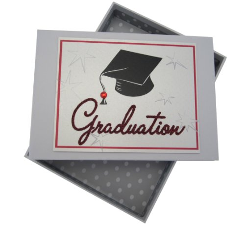 White Cotton Cards Graduation Cap Tiny Photo Album, Code GRD1T -