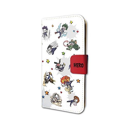 僕のヒーローアカデミア 01 雄英生&先生(グラフアートデザイン) 手帳型スマホケース iPhone6/6S/7/8兼用