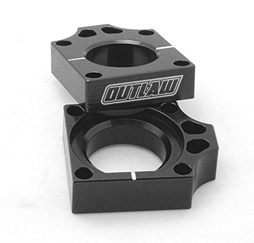 Outlaw Racing Billet Axle Blocks Black Honda Outlaw Racing Products