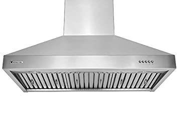 XtremeAir Ultra Series UL03-W30, 30 wide, LED lights, Baffle Filters W Grease Drain Tunnel, 1.0mm Non-Magnetic Stainless Steel Seamless Body, Wall Mount Range Hood
