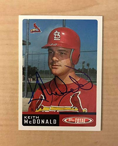 KEITH MCDONALD ST. LOUIS CARDINALS SIGNED 2002 TOPPS TOTAL CARD #86 W/COA