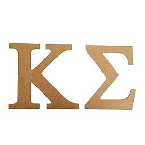 """Kappa Sigma 7,5""""sin terminar madera carta Set Kappa Sig"""