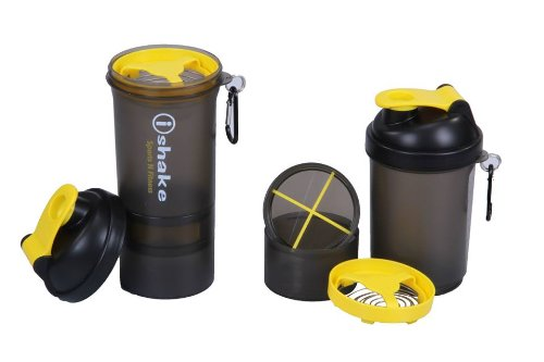 IShake 019 Blender Shaker Bottle, 500ml (Yellow)