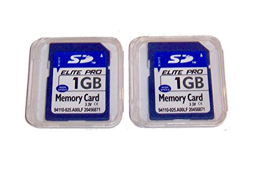 2 Pack of 1GB SD Memory Card, 1 GB Secure Digital Flash Memory Cards Pack of 2 by Elite Memory