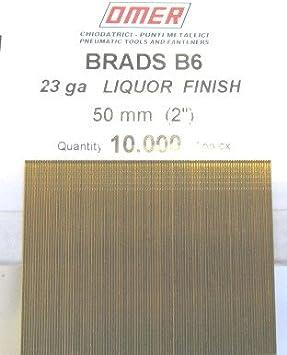 23 GAUGE MICRO BRADS B6 FOR OMER B6.35