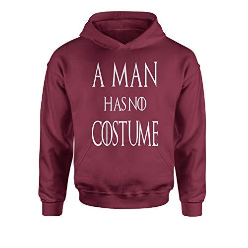 Youth Hood A Man Has No Costume GoT Halloween Medium Maroon ()