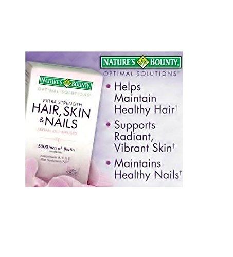 Кожа Bounty волос природы и ногти 5000 мкг биотина - 250 таблетки, покрытые оболочкой Regular & Extra Strength