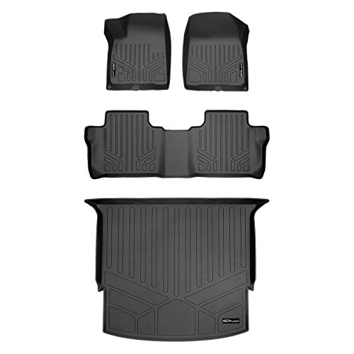 MAXLINER Custom Floor Mats 2 Rows and Cargo Liner Behind 2nd Row Set Black for 2019-2020 Chevrolet Blazer