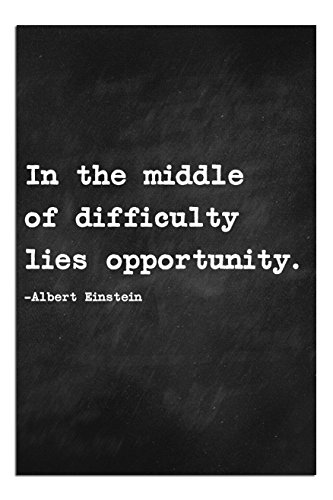 """JP London Solvent Free Print PAPMNSP75 Ready to Frame Poster Motivational Inspiration Sayings Quote Art at 36"""" h by 24"""" w from Albert Einstein"""