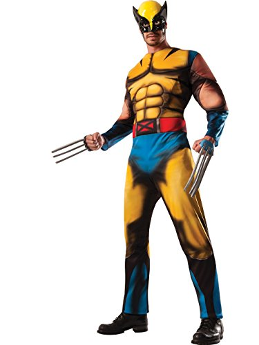 X-men Costumes For Men (Disguise Marvel The Wolverine Classic Muscle Mens Adult Costume, Yellow/Blue, )