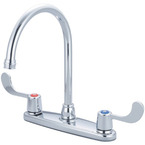 Olympia Faucets K-5350 Two Handle Kitchen Faucet, Chrome Finish
