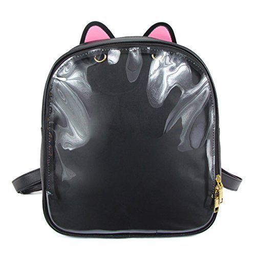 - SteamedBun Ita Bag Ears Candy Leather Backpack Transparent Beach Bag
