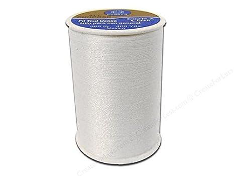 One Spool of Yarn 3 Coats /& Clark All Purpose Thread 400 Yards White