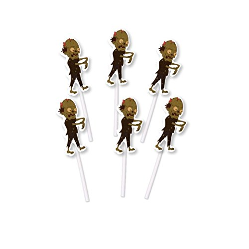 Zombie Cupcake Toppers - 24 count - for Birthday, Halloween, Scary themed event For Him -