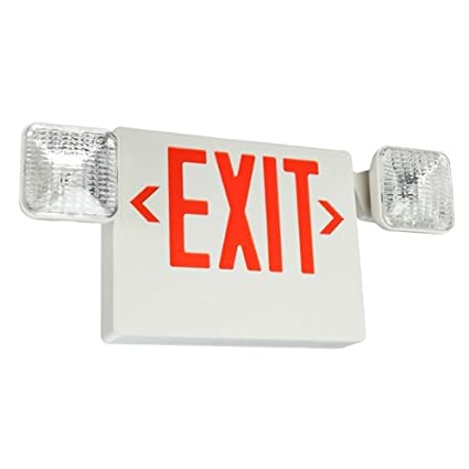 LED Exit Sign U0026 Emergency Light   Red Letters
